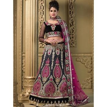 Embroidery Net Fabric multicolor Lehenga Choli