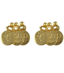 Womens Trendz Traditional 24K Gold Plated Alloy Earrings