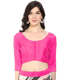 Magenta solid art silk readymade blouse