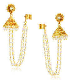 Creative Gold Plated Pearl Earcuff For Women