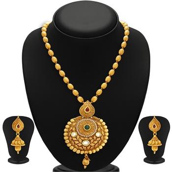 Astonish Gold Plated Kundan Necklace Set For Women