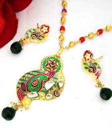 Buy Meenakari Designer Pendant Set 1 Necklace online