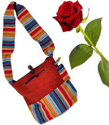 Buy Multi Colour Cotton Shoulder Bag Valentine Gift valentine-gift online