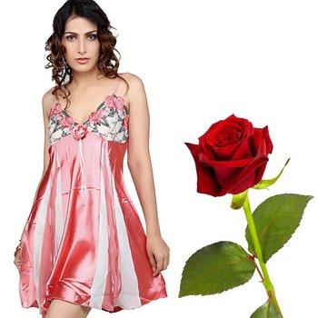 Nice Charming Princess Satin Middy Valentine Gift