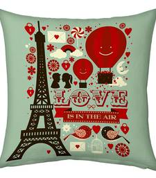 Buy Green Designer Romantic Print Filled Cushion cushion-cover online