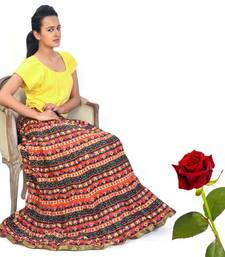 Buy Multilayer Design Cotton Long Skirt Valentine Gift valentine-gift online