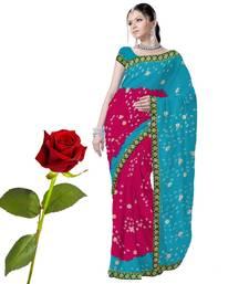 Buy Marvellous Chiffon Tie n Dye Saree Valentine Gift valentine-gift online