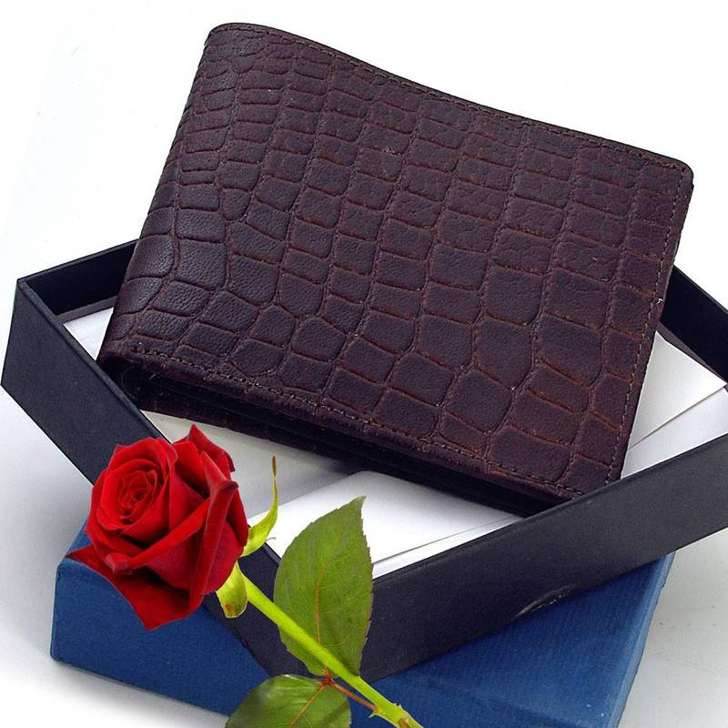 High Quality Pure Leather Wallet Valentine Gift - LITTLE INDIA - 852046