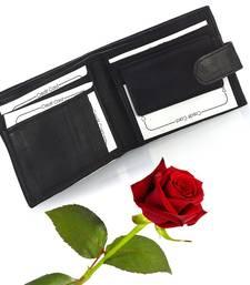 Gents Genuine Leather Black Wallet Valentine Gift