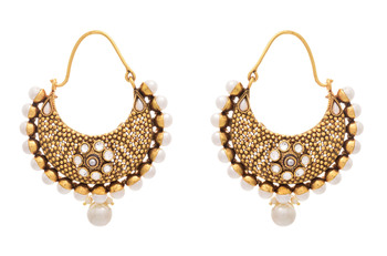 Charismatic Chand Balis with Polki & Pearls.