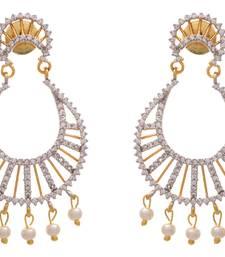 Charismatic Cz American Diamonds Chand Bali Earrings