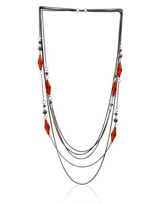 Mingled Stripe Silvery Necklace