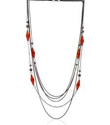 Buy Mingled Stripe Silvery Necklace Necklace online