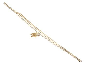 Leafy Pearl Connection Bracelet