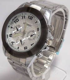 Buy Stylish Stainless Steel Silver Watch For Mens gifts-for-him online