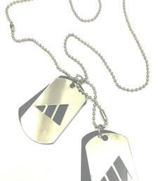 Buy Triangle Style Stainless Steel 2 Dog Tag with Silver Ball Chain gifts-for-him online