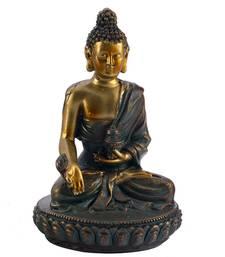 Buy Charming Gold Finish Buddha Idol Showpiece sculpture online