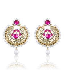 Buy Traditionally Gold Plated Chandbali Earring For Women danglers-drop online