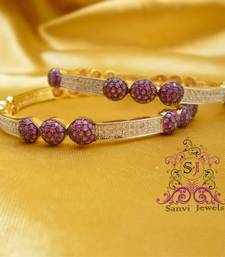 Buy Elegant A.D & Ruby Bangles bangles-and-bracelet online