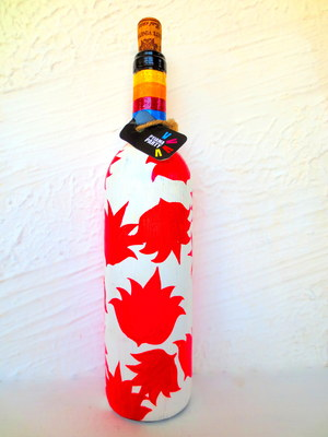 Recycle.Reuse.Rehyderate-FLOWER FIXATION-hand-painted bottles