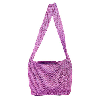 Ajar Crochet Shoulder Handbag | Lavender