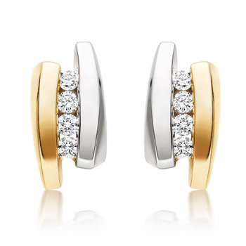 White Gold Plated Earring