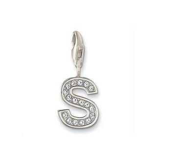 S' Alphabet Design American Diamond Pendant