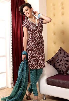 Pure Cotton Designer printed Dress Material - AOLG8133DM