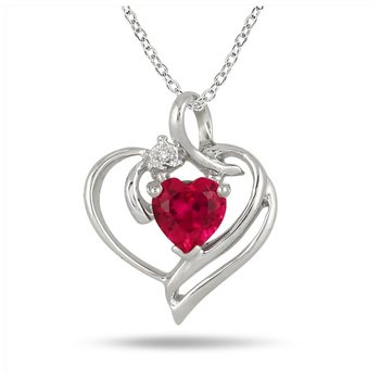 Sterling Silver Pendant Made With Cubic Zirconia