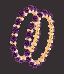 Buy BEAUTIFUL FLOWER N PEARLS BANGLES bangles-and-bracelet online