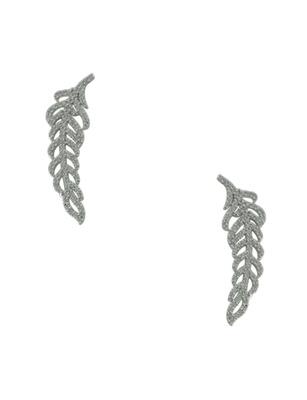 Clear CZ AD American Diamond Ear Cuffs Earrings Jewellery for Women - Orniza