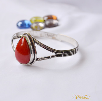 Bangle with Red stone