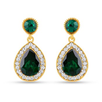 Royal Gold Sparklers Alloy Drop Earring