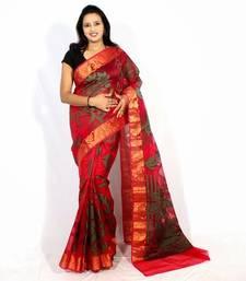 Buy Organza banarasi zari border saree organza-saree online