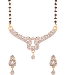 Buy Single String Glittering Mangalsutra Set-PSJAI26031 mangalsutra online