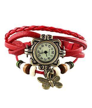 LS Designer Bracelet Watch-Red