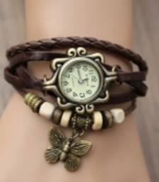 Buy Letast designer breslet type buttrefly watch-broun watch online