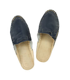 Buy eKolhapuri Blue Color Half Bantu For Men footwear online