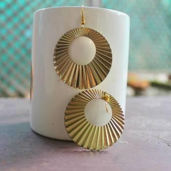 Stylish hoop earrings