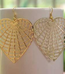 Buy Golden Heart Earring gifts-for-girlfriend online