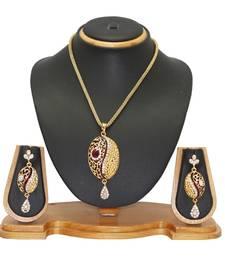 Buy Jewellery Ethnic Designer Pendant Jewellery Set Pendant online