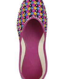 Buy Pink Fabric and Leather footwear footwear online