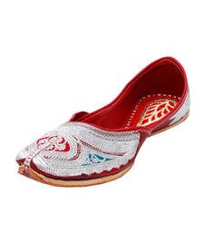 Buy Red Fabric and Leather footwear footwear online