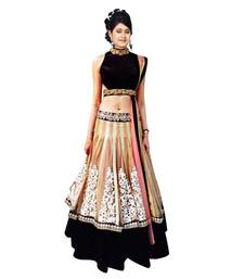 Buy Beige embroidered Net unstitched bridal-lehengas bridal-lehenga online