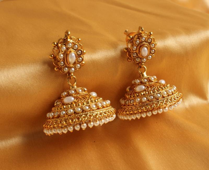 Beautiful antique pearl jhumkkas
