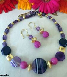Purple_Pink_Agates_Golden_Brushed_Set shop online