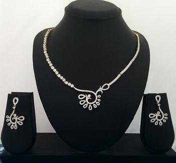5f4b836cd2 Angelic Awesome Cz Diamond Designer Necklace Set. TBZ - Design - JFL ...