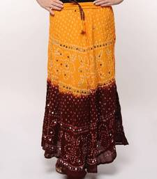 Amazing Cotton BAndhej Skirt