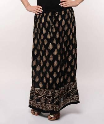 Black Gold Print Skirt