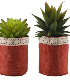 Buy Set of 2 Artificial Plants with Ceramic Pots pot online